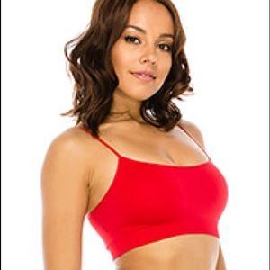 Red padded Sports Bra